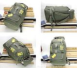 Рюкзак туристичний зелений великий Lijiebao 90 л., фото 5