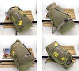 Рюкзак туристичний зелений великий Lijiebao 90 л., фото 2