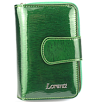 Женский кожаный кошелек маленький зеленый Lorenti 76115-SH green