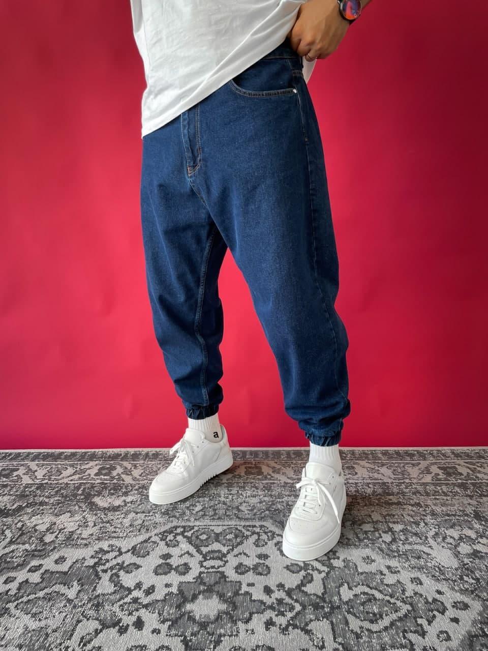 Джинси - трендові джинси Чоловічі / чоловічі трендові джинси сині на резинці