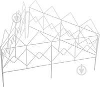 Декоративное ограждение для клумб Куб белый