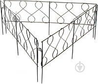 Декоративное ограждение для клумб Фасция ПД-ЕЕ-44 черный, 1 шт.