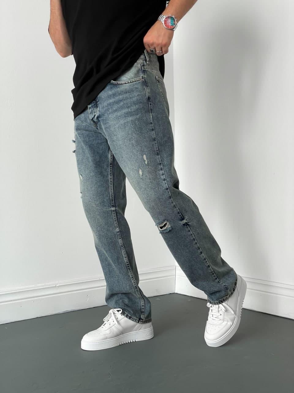 Джинси - Чоловічі джинси / чоловічі трендові джинси прямі класичні