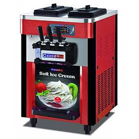 Профессиональная мороженица на 3 рожка Cooleq IFE-3 фризер для мягкого мороженого