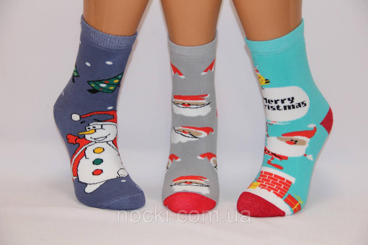 Дитячі шкарпетки махрові новорічні Стиль Люкс 18-20 к-3