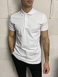 😜 Футболка - Мужская футболка поло / футболка біла поло