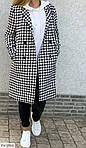 Женское твидовое пальто (Батал), фото 2
