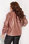 Жіноча шкіряна куртка (Батал), фото 2