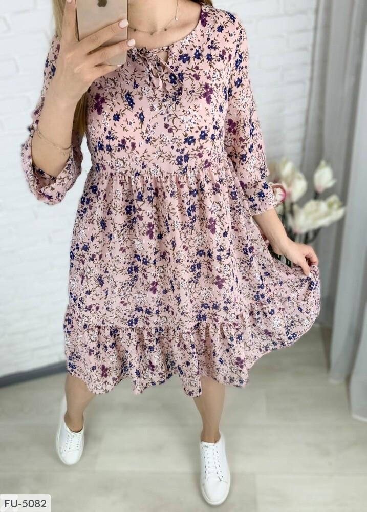 Шифонова сукня з квітковим принтом
