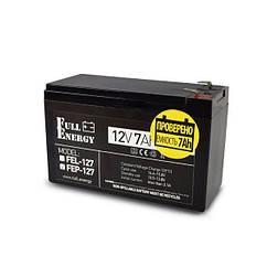 Акумулятор 12В 7 Аг для ДБЖ Full Energy FEP-127