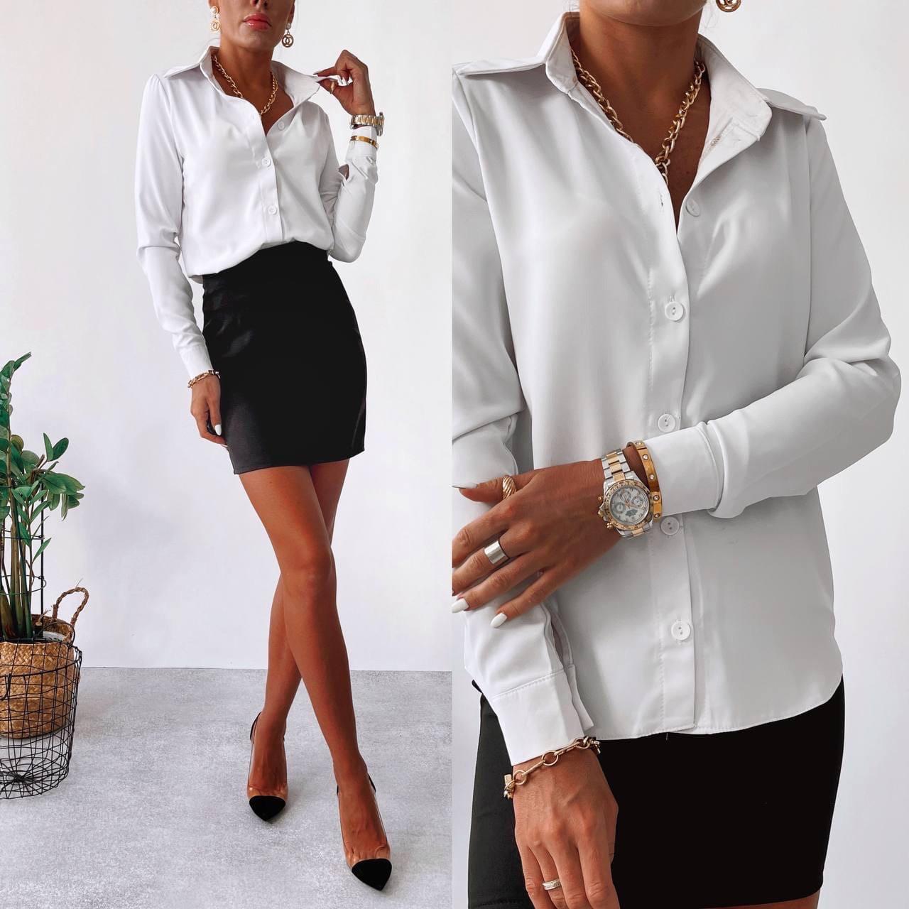 Класична жіноча сорочка в діловому стилі