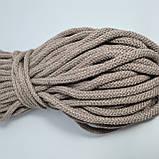 Шнур хлопковый с сердечником 8мм/50м Моккачино, фото 2