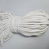 Шнур хлопковый с сердечником 8мм/50м Белый, фото 2
