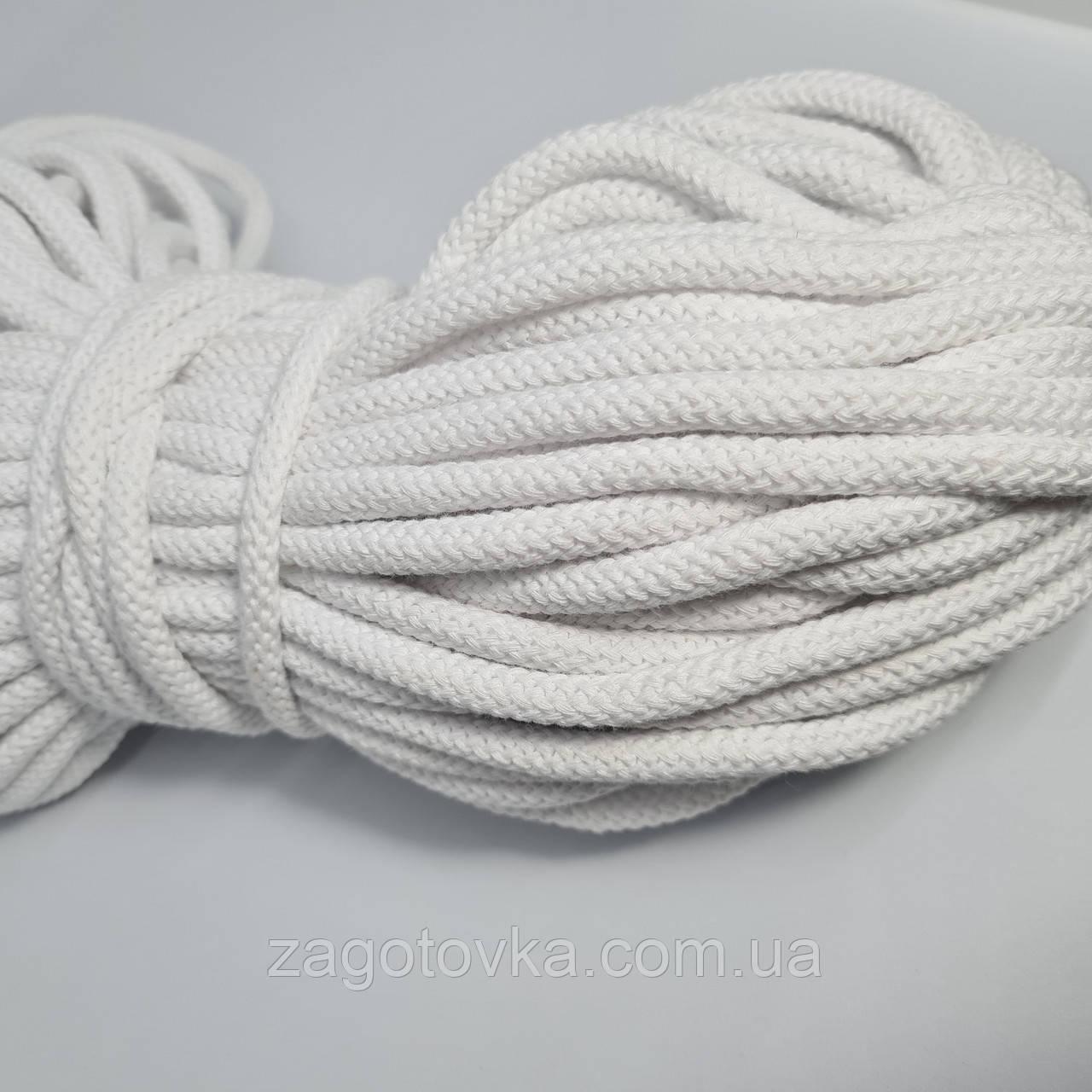 Шнур хлопковый с сердечником 8мм/50м Белый