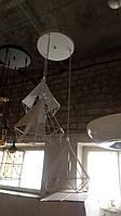 Люстра потолочная C 1016-3 (Белый)/Черный), фото 1