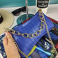 Модный турецкий клатч синий