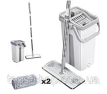 Швабра с насадкой из микрофибры и ведром с самоотжимом швабра и ведро с автоотжимом Scratch Cleaning Mop