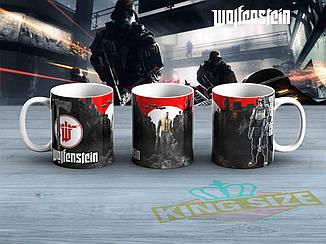 """Большая чашка Wolfenstein """"Боец""""  870мл Вольфенштейн"""