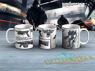 "Большая чашка Wolfenstein ""Оружие""  870мл Вольфенштейн"