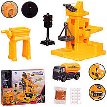 Детская Строительная площадка: строительный кран, светофор, машина