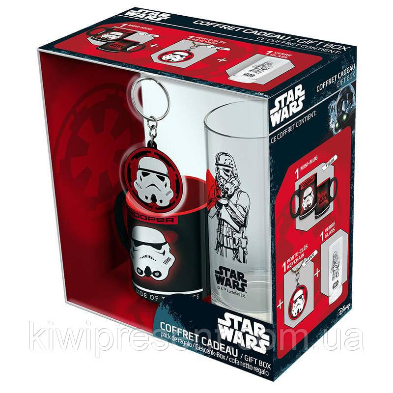 Набор подарочный Star Wars чашка, брелок, стакан 112071