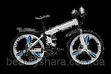 """Велосипед на литих дисках складаний двохпідвісний 29"""" колеса, білий (21 швидкість)"""