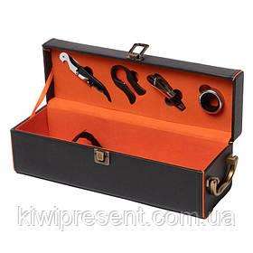 Набір для вина під 1 пляшку і 5 предметів BST 980008 Стиль 35*11,5 см чорний