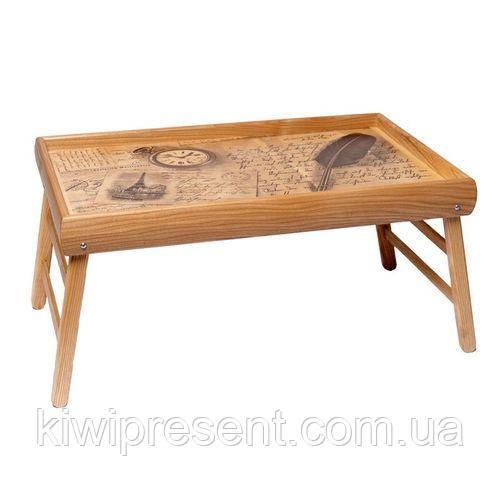 Столик для завтрака в постели PN10 часы, перо, письма