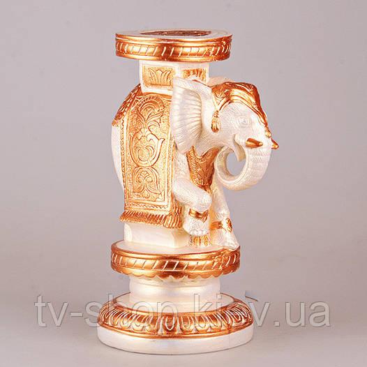 Подставка Слон белый