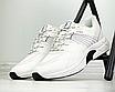 Кросівки чоловічі спортивні білі шкіра текстиль, фото 2