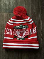 Шапка футбольная   красная Ливерпуль