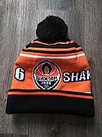 Шапка футбольная   оранжевая Шахтер