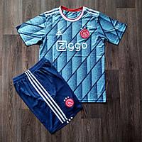 Футбольная форма Аякс выездная голубая 2020-2021