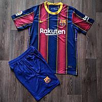 Футбольная форма Барселона домашняя красно-синяя 2020-2021