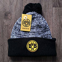 Футбольная шапка Боруссия Дортмунд черная
