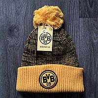 Футбольная шапка Боруссия Дортмунд желтая
