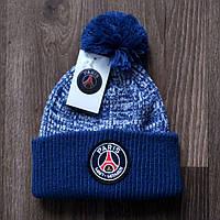 Футбольная шапка ПСЖ синяя