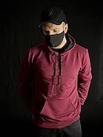 Толстовка худі Adidas бордова