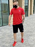 Комплект футболка і шорти Adidas червоний