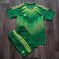 Детская форма футбольнаяAdidas зеленая BR, фото 1