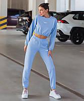 Женский спортивный костюм с укороченной кофтой на резинке
