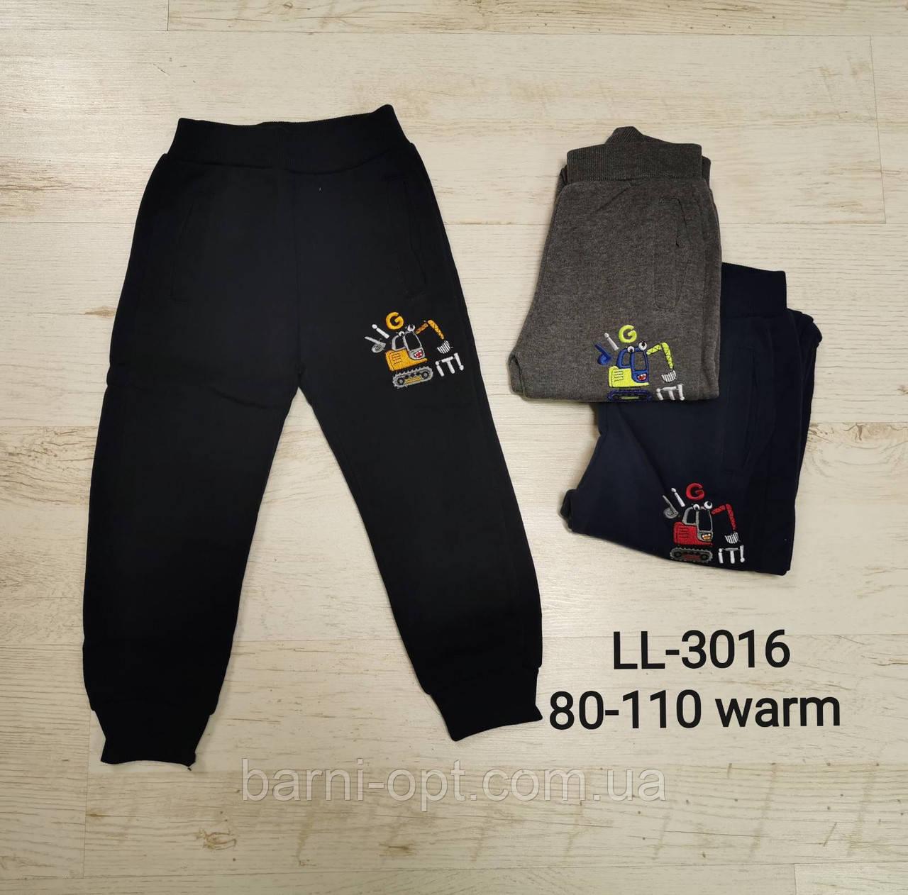 Спортивные брюки утепленные на мальчика оптом, Sincere, 80-110 рр