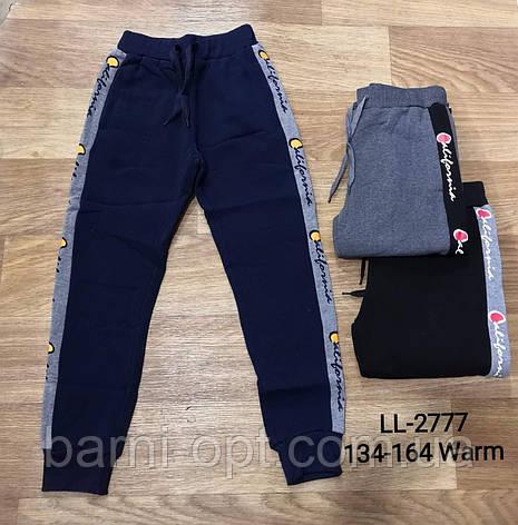 Спортивные брюки утепленные на мальчика оптом, Sincere, 134-164 рр, фото 2