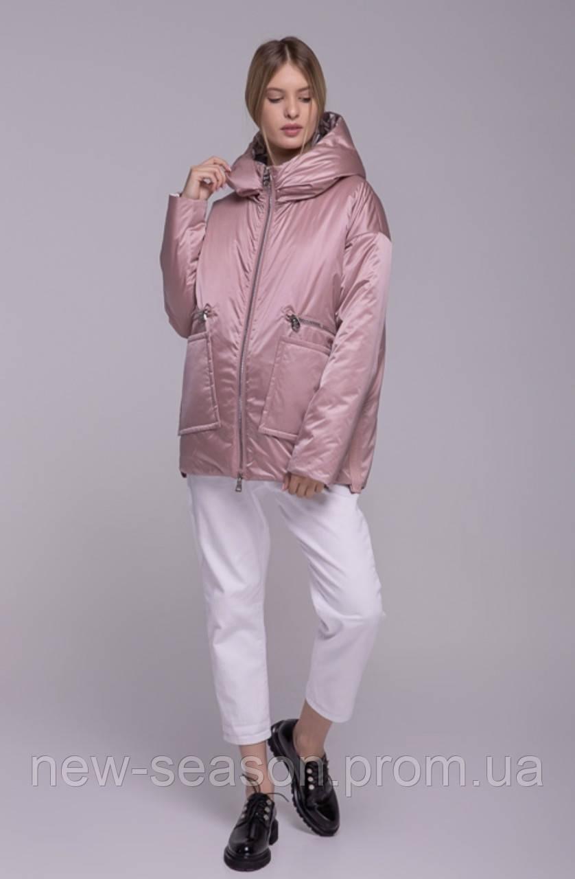 Куртка демісезонна Batterflei 2103 рожева двостороння