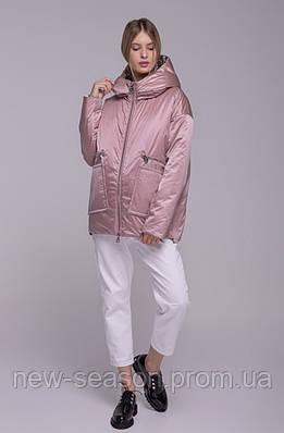 Куртка демисезонная Batterflei 2103 розовая двухсторонняя