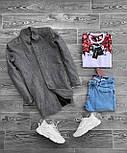 😜 Пальто - Мужское серое пальто на осень\ чоловіче пальто сіре шерсть, фото 3
