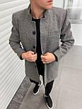 😜 Пальто - Мужское серое пальто на осень\ чоловіче пальто сіре шерсть, фото 2
