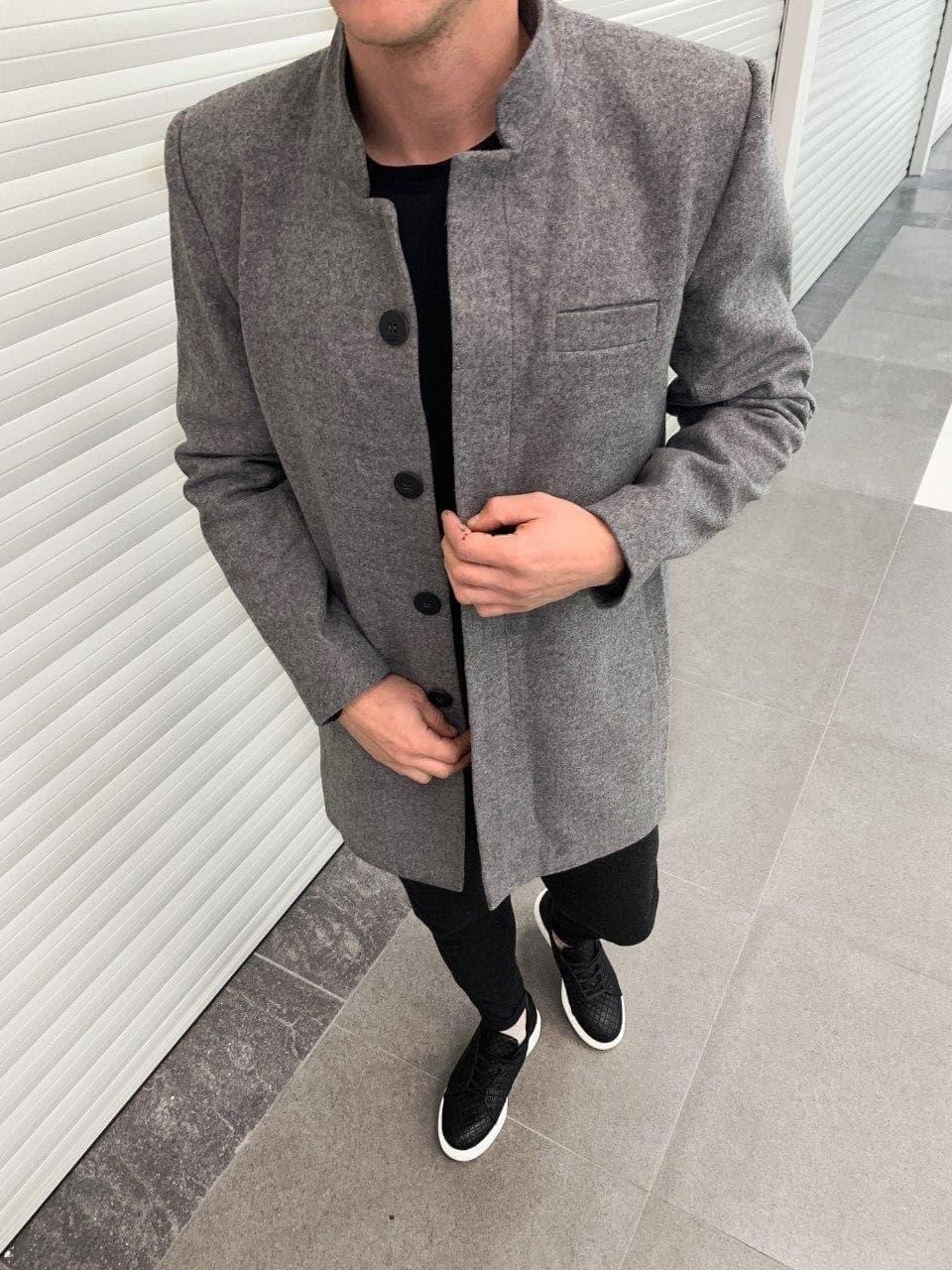 😜 Пальто - Мужское серое пальто на осень\ чоловіче пальто сіре шерсть