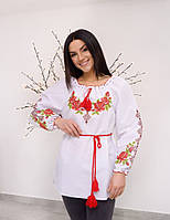 "Стильная женская вышиванка ""Роза "" , размер 46-62"