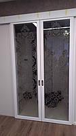 Межкомнатные раздвижные двери из массива клёна триплекс